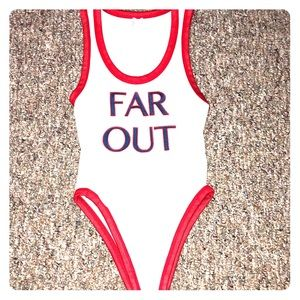 """FAR OUT"" Bodysuit"